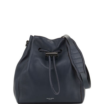 Aston Drawstring Bucket Bag, Navy - Rag & Bone