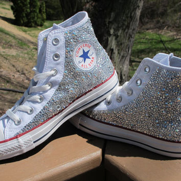 Rhinestone Converse HIGH TOPS -Including Shoes  Read Description- 3bf2aaf5f