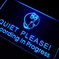 Studio Recording in Progress Quiet Please Neon Sign (LED)