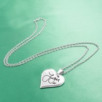 One Direction 'Zayn Signature' Heart Necklace | AihaZone Store