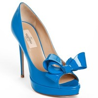 Valentino 'Couture Bow' Open Toe Pump