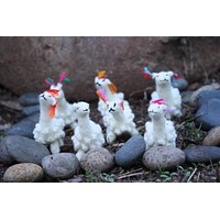 Small Alpaca Herd Toy