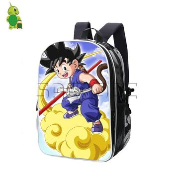 Anime Backpack School kawaii cute Dragon Ball Z School Bags Pu Backpack Super Saiyan Goku Gohan Large Capacity Book Bags Teens Students Travel Backpack AT_60_4