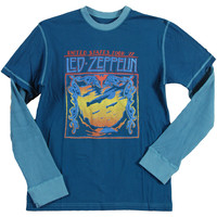 Led Zeppelin Men's  Blimp  Long Sleeve Blue Rockabilia