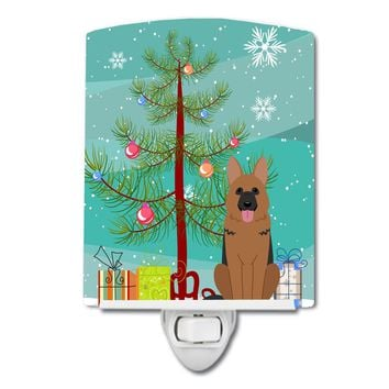 Merry Christmas Tree German Shepherd Ceramic Night Light BB4192CNL