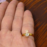 A tiny gold plated symbol mult-task ring, above knuckle ring,adjustable finger ring,stackable ring, toe ring, little finger ring