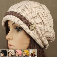 Fashion Women's Kintting Beanie Warm Casual Solid Hat Cap Winter Hats for Girls #mgsu = 1945946692