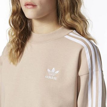 ADIDAS Women Fashion Casual Long Sleeve Mini Dress