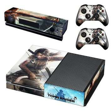 Tomb Raider: Definitive Edition Full Body Skin Sticker for XBOX ONE Console and Controller