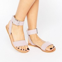 ASOS FLEEK Suede Two Part Sandals at asos.com