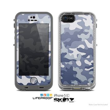 The Traditional Snow Camouflage Skin for the Apple iPhone 5c LifeProof Case