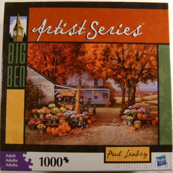 Big Ben Artists Series Paul Landry 1000 Pc 21x26 Jigsaw Puzzle Country Farmstand