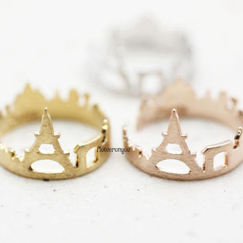 Paris ring, Cityscape ring, souvenir Paris, skyline ring, city ring, nightline ring, london skyline ring, city ring, France jewelry,