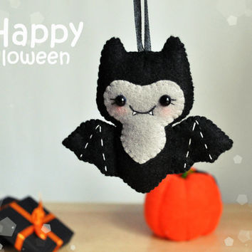 cute halloween ornament felt bat decor halloween gift party favors halloween decorations felt ornament bat scary - Cute Halloween Decor