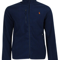 Polo Ralph Lauren Men's Micro Fleece Zipper Track Jacket