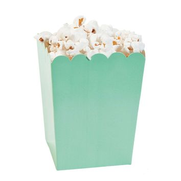 Mint green popcorn boxes