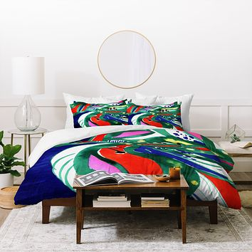 CayenaBlanca Organic color Duvet Cover