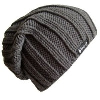 Frost Hats Fall Winter CHARCOAL Mens Slouchy Hat Beanie Frost Hats