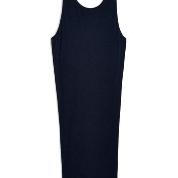 Helmut Lang Feather Jersey Dress in Navy