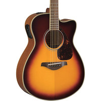 Yamaha FSX720SC Solid Top Concert Cutaway Acoustic-Electric Guitar Brown Sunburst