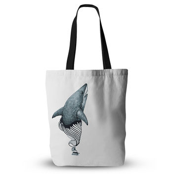 "Graham Curran ""Shark Record"" Everything Tote Bag"