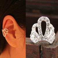 NT0142 Diamond Crown ear bones clip