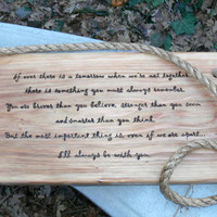 Winnie the pooh A.A. Milne quote on christopher robin tree swing baby shower gift