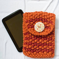Handmade tablet case, Suitable for tablets, iPad, ebook readers, Chunky Knit ipod Mini Sleeve, Knit Kindle Fire Case, Knit Ereader Sleeve