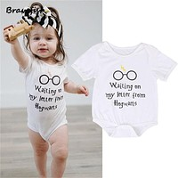 Baby Rompers Short Sleeve Baby Girls Clothing Jumpsuits Children Summer 0-24M born Baby Clothes Cotton Harry Potter Vestidos