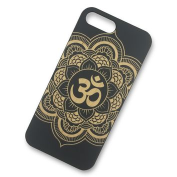 iPhone 6/6s PLUS - Mandala OM Wooden Phone Case