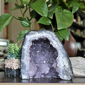 3.8lbs. Amethyst Cathedral, LARGE Crystal Geode Cluster, Wiccan Altar Supplies, Healing Stone, Bohemian Home Decor, Chakra Healing, Reiki