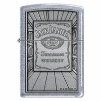 Zippo 1463 Classic Street Chrome Jack Daniels Old No. 7 Tennessee Whiskey Windproof Pocket Lighter