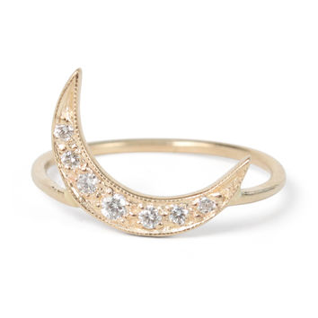 Crescent Moon Ring - Gillian Conroy - Catbird