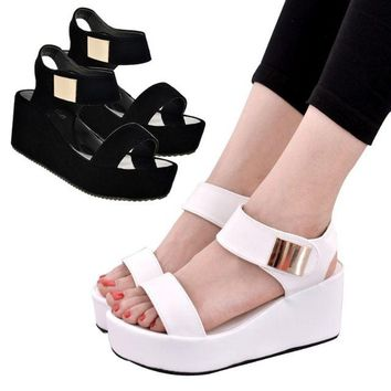 LOCAL K. L READY STOCK (black) KOREAN STYLE STYLING WEDGES WOMEN HIGH HEEL SHOES
