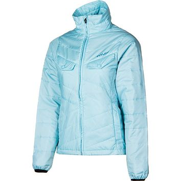 Flylow Womens Blue Piper Puffy Lightweight Jacket Coat Snowboarding & Ski $160