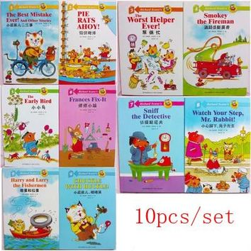 10 books/set ,chinese English bilingual children's picture book, Chinese short stories for Toddlers and kids