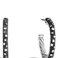 Women's David Yurman 'Midnight Melange' Small Hoop Earrings wioth Diamonds - Diamond