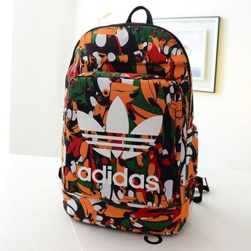 Adidas Fashion Print School Laptop Shoulder Bag Satchel Bookbag Backpack