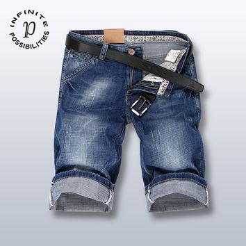 Men Summer Denim Pants Stylish Patchwork Jeans [1589006696541]