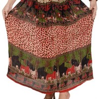 Skirts 'N Scarves Women's Rayon Printed Long / Maxi / Gypsy Skirt