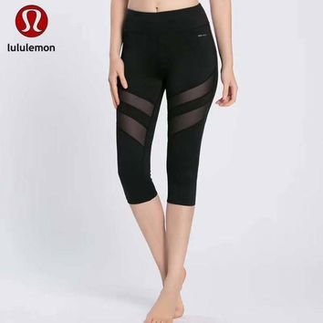 CREYUP0 Lululemon Women Fashion Gym Yoga Exercise Fitness Leggings Sweatpants-7