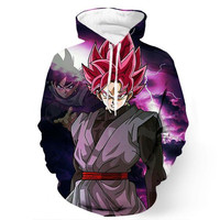 Black Goku Rose Dragon Ball Z Hoodie