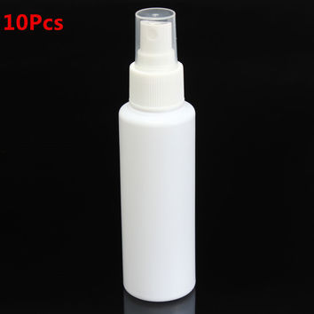 10Pcs 100ml Spray Bottles Empty Plastic Perfume Cosmetic Atomizers Travel Makeup Tools