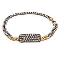 Grey Diamond Ten Table Bracelet