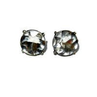 12 mm Swarovski Crystal Post Earrings with Rubber Backings