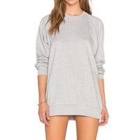 RISE Home Run Sweater Mini Dress in Grey