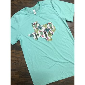 Mint Cactus State Tee