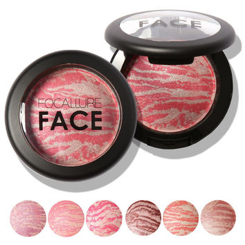 Makeup Baked Blush Palette Baked Cheek Color Blusher Blush Colorete Iluminador Maquiagem Bronzer Sleek Cosmetic Shadows