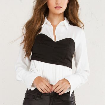MUMFORD BUSTIER BLOUSE - What's New
