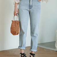 5-Pocket High-Rise Jeans